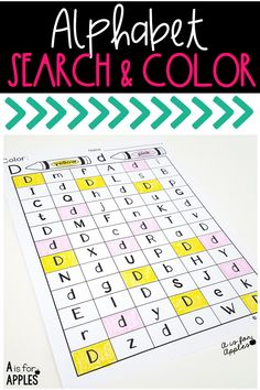 No prep alphabet recognition and color word practice! Find the letter and color.