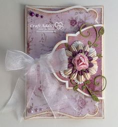 Paper Crafts, Diy Crafts, Shaped Cards, Fancy Fold Cards, Flower Cards, Wedding Cards, Envelope, Birthday Cards, Projects To Try