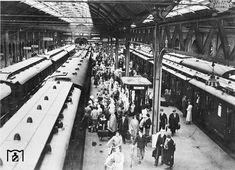 Berlin: Stettiner Bahnhof, Bahnsteig, 1932