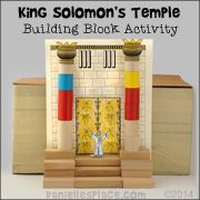 Craft idea solomon builds the temple print simple for King solomon crafts for preschoolers