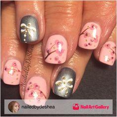 Cherry Blossom by nailedbydeshea via Nail Art Gallery #nailartgallery #nailart #nails #mixedmedia