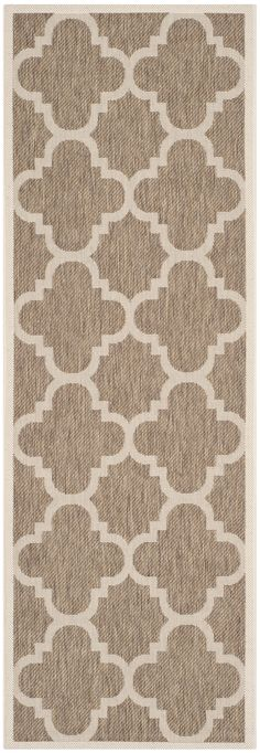 "Lowest price on Safavieh Courtyard Brown 2'-3"" x 10' Indoor/Outdoor Rug CY6243-242-210. Shop today!"