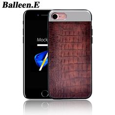 Balleen.E Luxury Crocodile PU Leather Metal Stitching Phone Cases For iPhone 7 6 6s Plus Back Cover Case Fundas Capa Coque