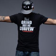 The grind has no curfew tee