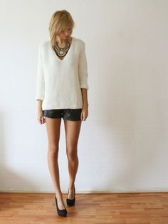 White Going Out Shorts