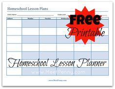 How to get organized with homeschool lesson plans and a FREE printable planner template
