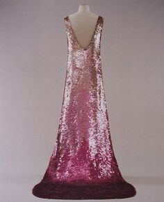 #Vintage#Fashion#1930's|Sequined dress manufactured by House of Lesange for Madeleine Vionnet, 1930s.