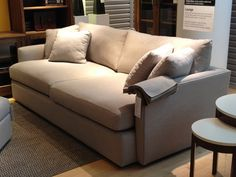 Crate & Barrel Lounge Sofa in linen -- photo by brynalexandra, via Flickr