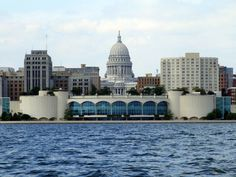 Monona Terrace and Wisconsin State Capitol, Madison, WI