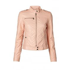VMBEGGAR SHORT PU JACKET ❤ liked on Polyvore featuring outerwear, jackets, polyurethane jacket, short jacket, pu jacket and summer jacket