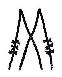 School Nerd Bow Suspenders