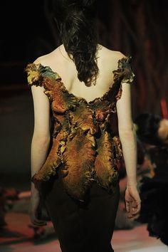 steampunk woodland fairy style felt fashion couture Gallery.ru / Фото #1 - FRANK SORBIER - renew