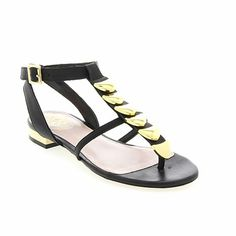 "Vince Camuto ""Himila"" Leather Ornamented Thong Sandal"