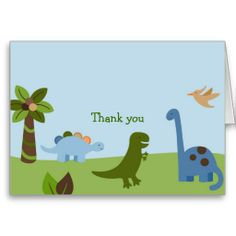 Shop Lil Dino Dinosaur Boys Thank You Note Cards created by little_prints. Personalize it with photos & text or purchase as is! Birthday Thank You Cards, Thank You Note Cards, Custom Thank You Cards, Dinasour Birthday, Dinosaur Birthday Party, Baby Shower Supplies, Baby Shower Themes, Your Turn, Baby Shower Invitations