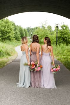 Need help finding pretty + affordable pastel bridesmaids dresses? Check out these tulle David's Bridal options that can be styled multiple ways. #partner
