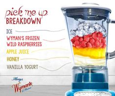 Today, we're breaking down the best way to start your day (in our humble opinion.) Get the #alwaysdelicious recipe for our Acadia Trail Smoothie with fresh-frozen red raspberries: http://www.wymans.com/recipe/acadia-trail-smoothie.