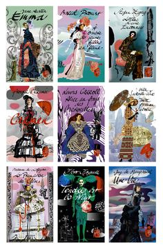 Christian Lacroix illustrated book cover collection...