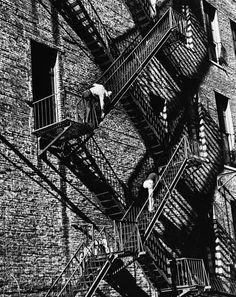 fire escape, new york, 1949 photo by andré kertész Andre Kertesz, Budapest, Robert Doisneau, New York City, Berenice Abbott, Fire Escape, Famous Photographers, Man Ray, Photo Essay