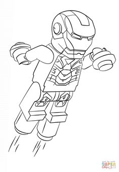 LEGO Marvel Super Heroes Coloring Page LEGO LEGO Iron Man 3