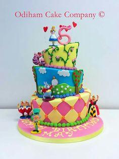 OCC - tipsy topsy turvy Alice in wonderland themed birthday cake #cake #birthday #alice #aliceinwonderland #wonderland #tipsy #turvy