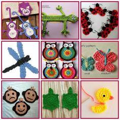 Apliques de crochet con patrones http://www.arteydiversidades.com/2013/07/apliques-de-crochet.html