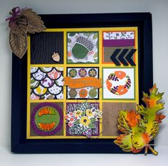 Shadow box and Autumn Sampler class taught by Jackie Noble at the Great Welly Paper Caper. www.magpiecreates.com