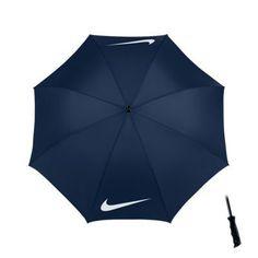 "Nike 62"" Windproof Single Canopy Graphic Golf Umbrella - Midnight Navy/White"