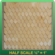 "1/2"" Scale Miniature Diamond Shingle Strips Half Scale (bestseller)"