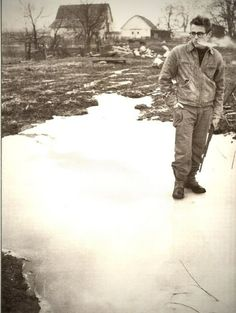 James Dean in his home town of Fairmount, Indiana