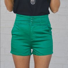 """New Rising Tides High Waisted Shorts New retail Rising Tides High Waisted shorts from Blackberry Boutique! Available in sizes small, medium, & large. If you bundle two or more RETAIL items receive 10% off and a FREE GIFT of a bracelet or necklace! Model is 5'3"""" and wearing a size small. I do not accept offers on retail products on postmark. Happy shopping and thank you for viewing my listing! Blackberry Boutique Shorts"""