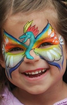 Face Painting - dragon for girls