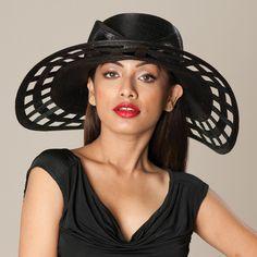 5116GGBB Georgina, black  – Louise Green Millinery