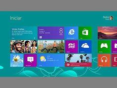 Nova interface gráfica da tela inicial do Windows 8, da Microsoft.