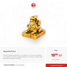 Pi Yao este o creatură cerească protectoare care are un singur corn, o față de leu-câine, copite și aripi mici și coadă. Poziția cea mai favorabilă este cea șezând pe monede chinezești, poziție în care vă protejează viitorul și stimulează bunăstarea. Mai, Feng Shui, Bookends, Home Decor, Decoration Home, Room Decor, Home Interior Design, Home Decoration, Interior Design