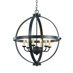 Rubbed Oil Bronze Six Light 24 Inch Wide Globe Pendant Globe Pendant Lighting Ceiling Lig