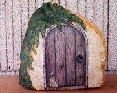 painting gnome door on rock | The Witch's Door ~ Purple