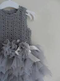 Resultado de imagen para tejidos a crochet para niñas con tul