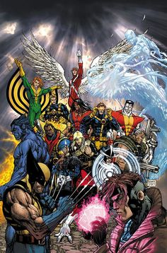 Uncanny X-Men #500.  Artwork by Michael Turner.
