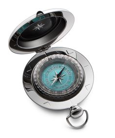 The Voyager Compass is perhaps the best-known of all Dalvey compasses.  It's unique pull-pommel catch, tactile shape, and iconic design make it a classic of the range.  This compass features an exceptionally fine-detailed dial combining a lustrous turquoise with mirror-polished detailing in the compass rose and increments. #dalvey, #compass, #gift, #weddinggift, #weddingday, #groom, #bestman, #ushers, #groomsmen, #fatherofthebride, #graduation, #birthday, #anniversary, #travel