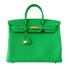 HERMES BIRKIN 40 BAMBOO new colour bag gold hardware | From a collection of rare vintage handbags and purses at http://www.1stdibs.com/fashion/accessories/handbags-purses/