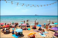Playa levante at Benidorm in Spain www.fractionsoftheworld.com