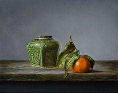 exto.nl | Stilleven met gemberpotje en mandarijn van Jan Teunissen