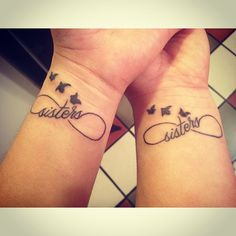 Matching tattoo with my sister. #tattoo #sister #infinty #birds