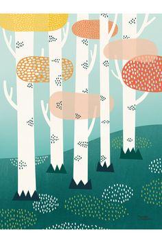 Michelle Carlslund poster - Forest