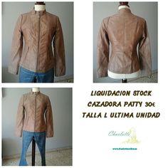 LIQUIDACION STOCK CAZADORA PATTY 30€ TALLA L WWW.CHARLOTTEONLINE.ES