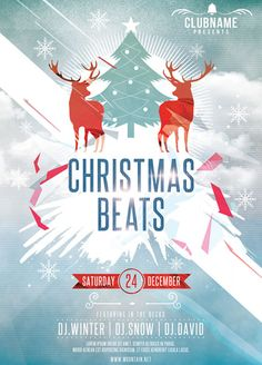 You can DOWNLOAD the PSD file here:Christmas Beats Flyer Club Poster, Beats, Christmas, Movie Posters, Xmas, Film Poster, Navidad, Noel, Natal