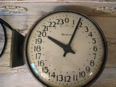 Large Vintage Industrial 24 Hour Military Clock.