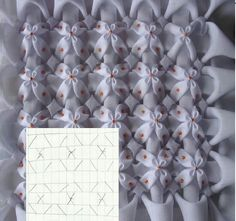 Embroidery Fabric Manipulation Smocking Tutorial 26 Ideas For 2019 Embroidery Fabric, Hand Embroidery Designs, Embroidery Stitches, Embroidery Patterns, Smocking Tutorial, Smocking Patterns, Sewing Patterns, Techniques Couture, Sewing Techniques
