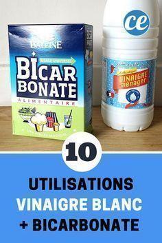 Vinaigre Blanc + Bicarbonate : 10 Utilisations De Ce Mélange Magique.