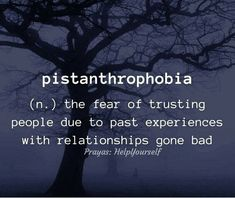 Pistanthrophobia (n) fear of trusting people due to past experiences with relationships gone bad Unusual Words, Weird Words, Rare Words, Unique Words, Cool Words, Fancy Words, Big Words, Pretty Words, Beautiful Words